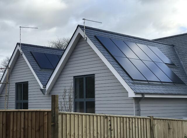 Winchester homes with solar panels
