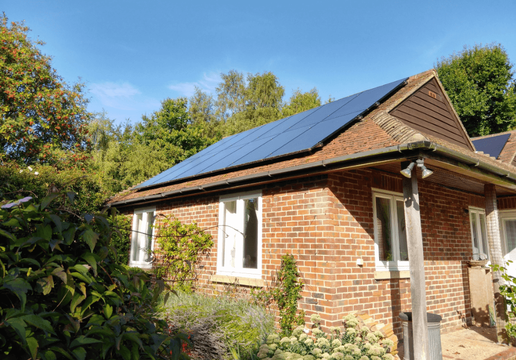 Cottage solar panels