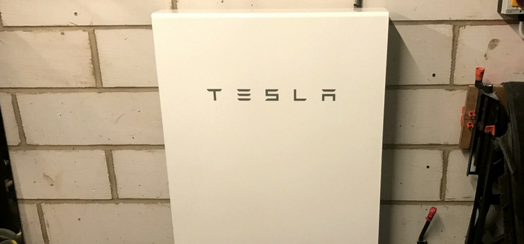 Tesla Powerwall battery storage for solar