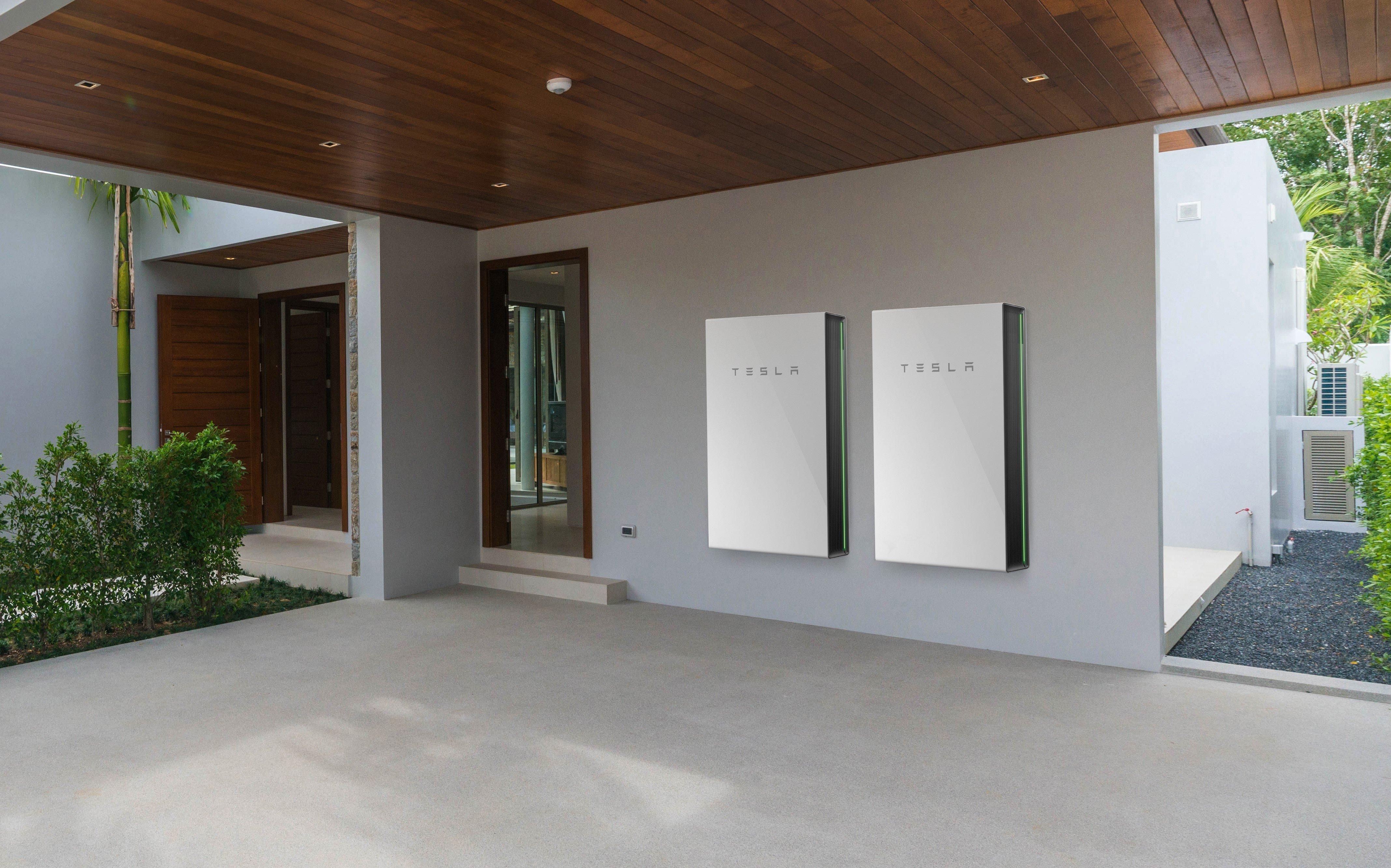 Two Tesla Powerwalls