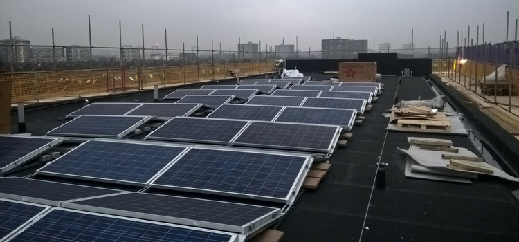 flat roof solar panels