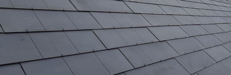 Solar PV Slate Tiles Close Up