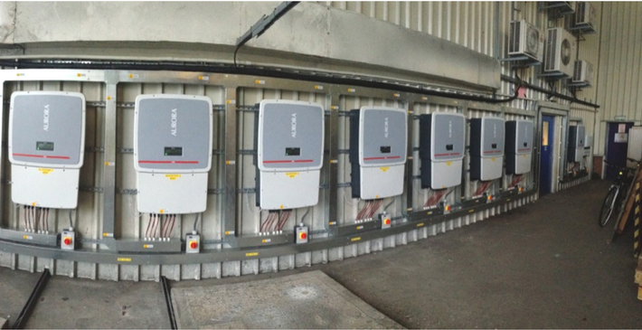 bank of commercial inverters