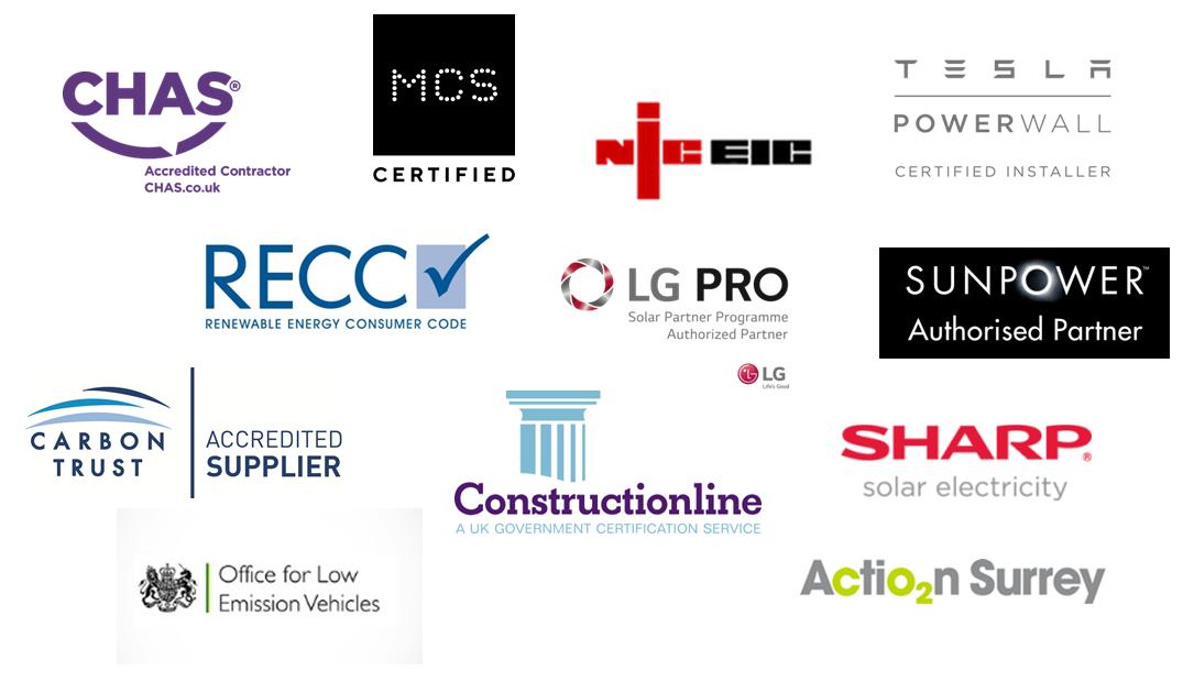 Spirit Energy accreditation logos 2020