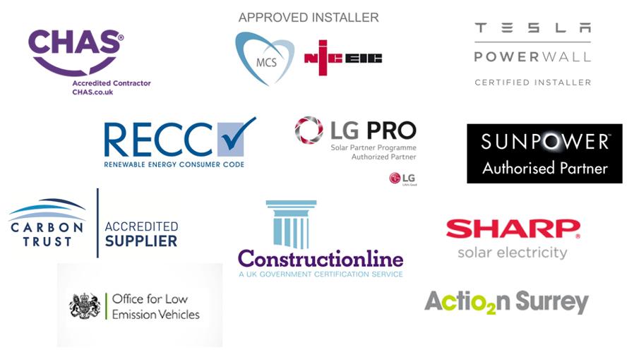 Spirit Energy accreditation logos