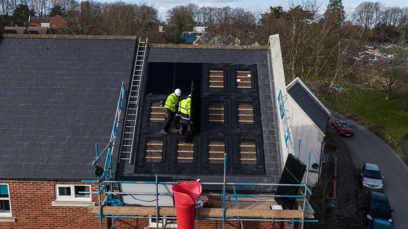 Spirit installers on roof