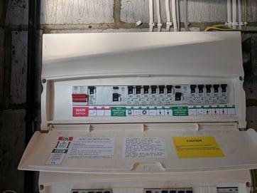 consumer unit close up